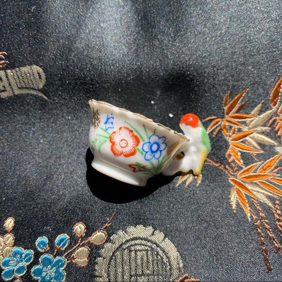 Vintage Japan Bird Cup Porcelain